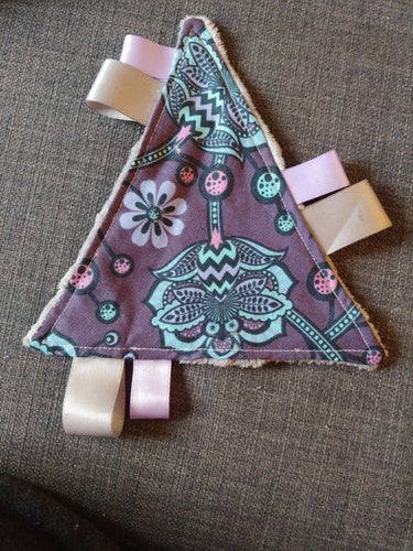 Handmade baby taggie toy