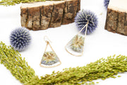 Branch and Barrel Designs Globe Thistle Fan Earrings. Sterling silver or 14 karat gold jewelry