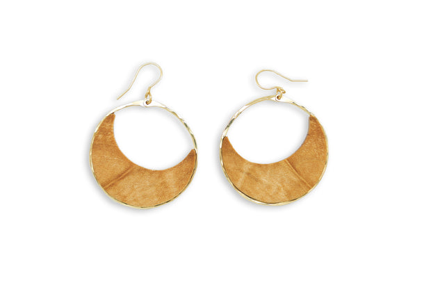 Branch and Barrel Maple Moon small hoop earrings.  Made from hand cut Western Oregon Maple these are a smaller version of our long time favorite Maple Moon hoops. Framed with your choice of hand-forged 14k gold fill or sterling silver.  Buy One Plant One - One tree planted for every Branch and Barrel piece sold