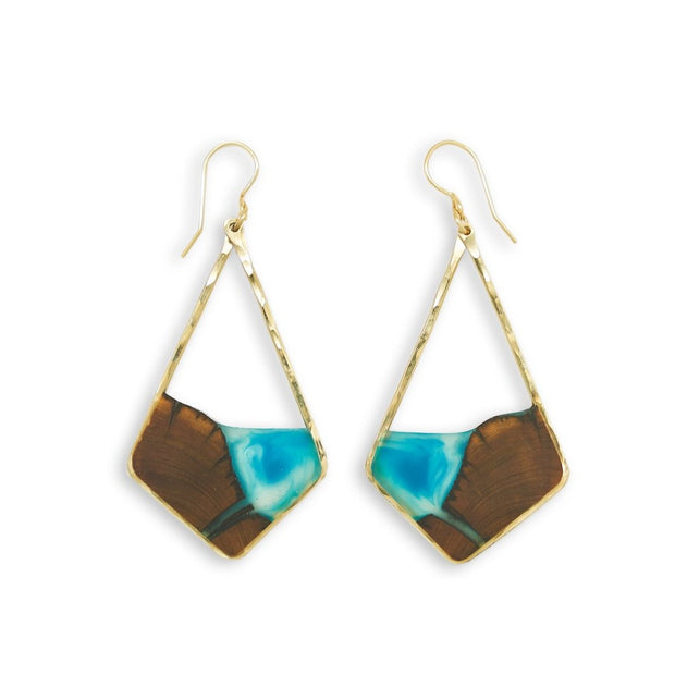 "Branch+Barrel ""Isla"" Central Oregon Juniper Earrings  Hand cut juniper paired with a hand tinted resin, framed in your choice of Sterling Silver or 14k Gold-Fill  Buy One Plant One - One tree planted for every Branch and Barrel piece sold!"