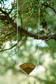 Branch and Barrel Central Oregon Juniper Wedge Necklace   Central Oregon Juniper framed in your choice of hand-forged metal; Sterling Silver or 14k Gold-Fill  Buy One Plant One - One tree planted for every Branch and Barrel piece sold