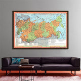 150x225cm Russia Map Posters and Prints Living Room Modern Wall Art Pictures canvas Painting Posters Office Home Decoration
