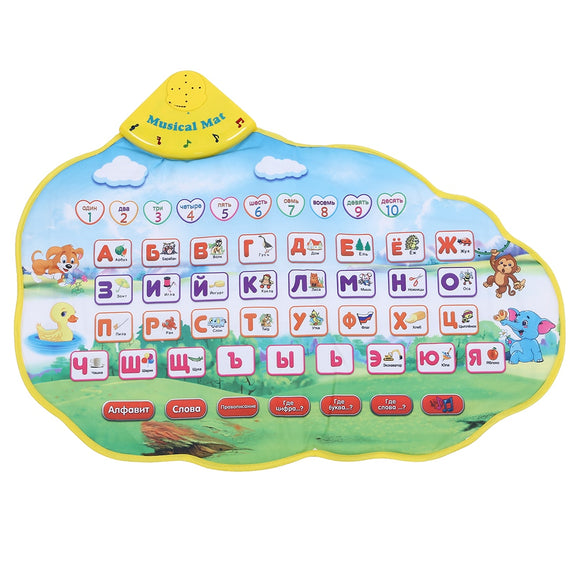 FBIL-Children Learning Mat Russian Language Toy Funny Alphabet Mat Learning Education Phonetic Sound Carpet ABC Toy