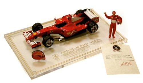 1/18 Scale Ready Made Die Cast - Ferrari F2006 M.Schumacher L/E 9250 Brazil Gp + Helmet,Figure,Cert