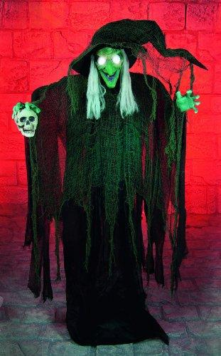 1.8 metre Huge animated Halloween Standing Witch - Ideal Greeter for the front Porch