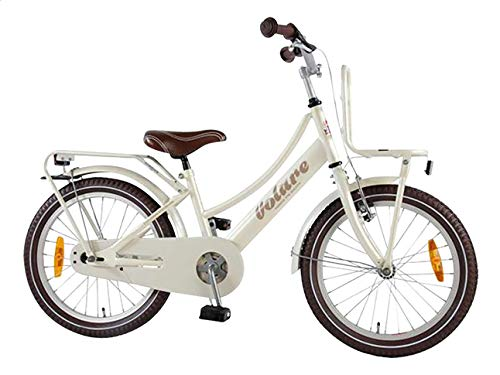 .Volare Girl Bike Excellent 18 Inch Front Brake on Handlebar and Rear Coasterbrake Carrier Pearl 95% Assembled
