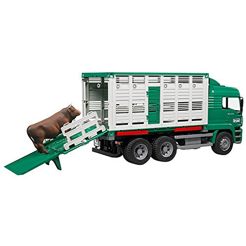 02749 MAN Cattle Transportation Truck with Cow Figure