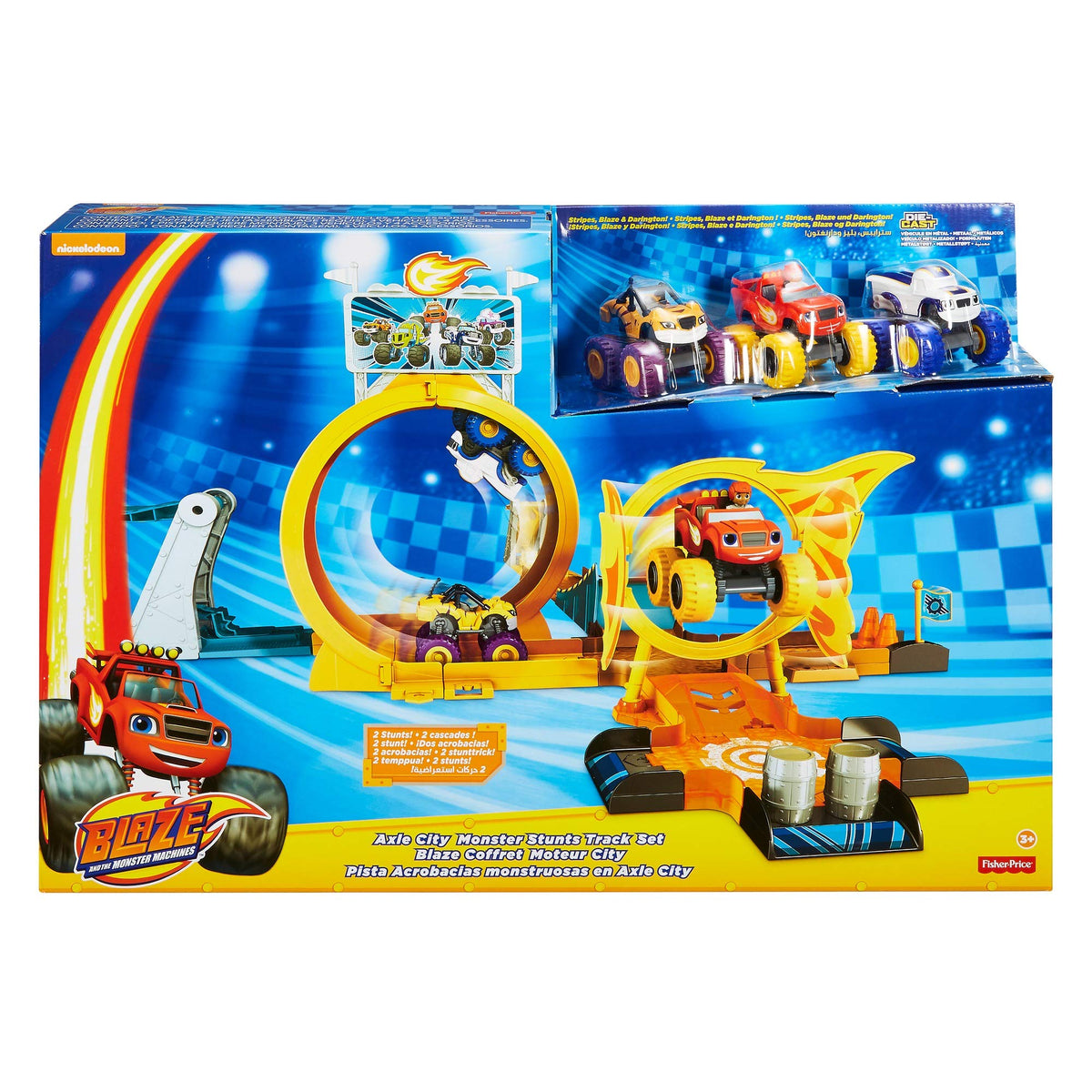 Blaze And The Monster Machines Gfc08 Axel City Playset Multicolour