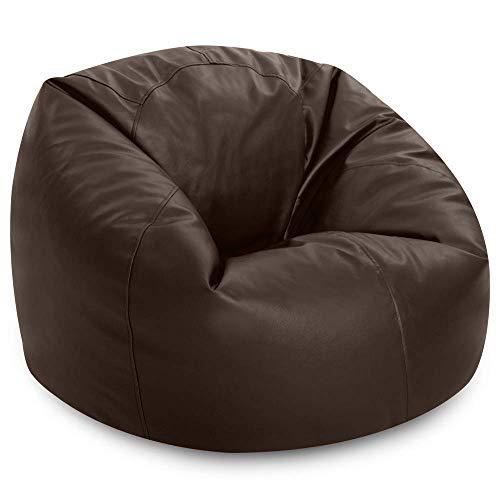 Strange Bean Bag Bazaar Faux Leather Panelled Xl Bean Bag Chair Extra Large Bean Bags Brown Ocoug Best Dining Table And Chair Ideas Images Ocougorg