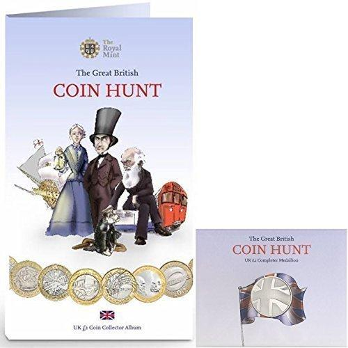 *BUNDLE* The Royal Mint £2 (TWO POUND) Coin Hunt Album Folder PLUS Completer Medallion