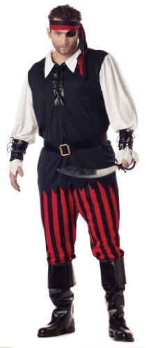 Cutthroat Pirate Men\'s Plus Size Fancy Dress Movie Book Costume Adult  Outfit XXL