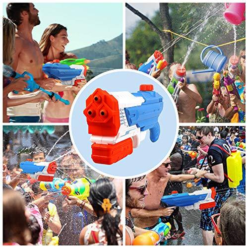KissDate Water Gun, Super Large Capacity 2400CC Drawing High-pressure 3  Nozzles Water Blaster, Summer Fun Outdoor Swimming Pool Games Toys for Kids  ...