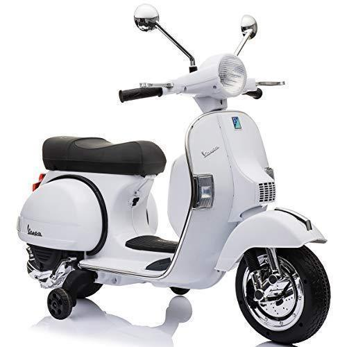 Vespa Electric Scooter >> Outdoortoys Licensed Vespa Px150 12v Ride On Children S Battery Operated Rechargeable Electric Scooter Bike Black
