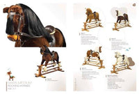 """Shire Horse in BAY colour"" Handmade Rocking Horse MARS IV Cheval à bascule MJmark"