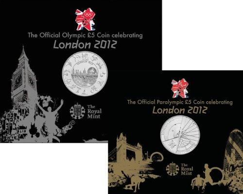 **TWIN PACK** The London 2012 OLYMPIC & PARALYMPIC Brilliant Uncirculated £5 Coins