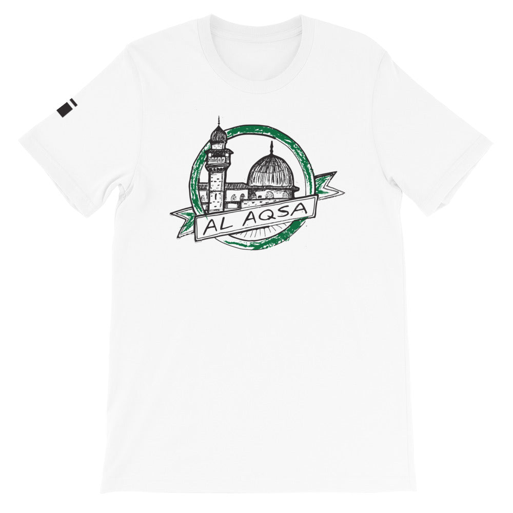 Al Aqsa Short-Sleeve Unisex T-Shirt - one love islam
