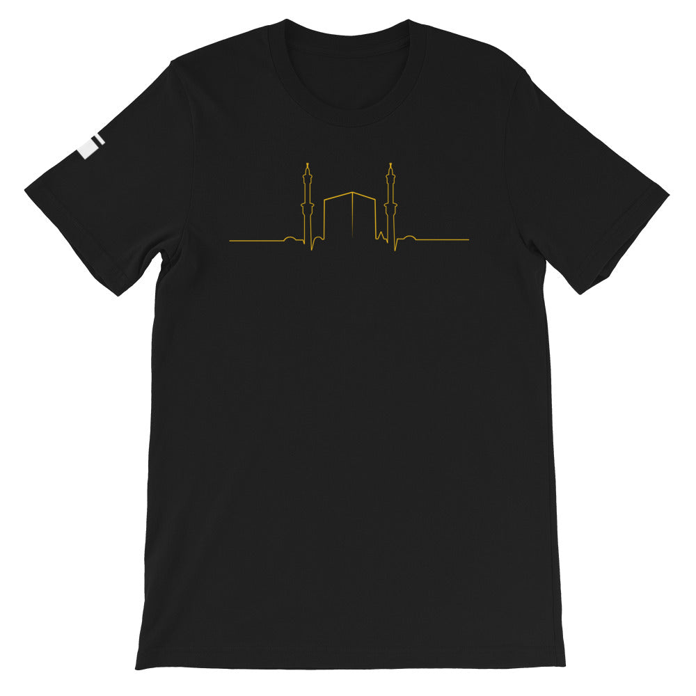 My hearts beats Makkah Short-Sleeve Unisex T-Shirt - one love islam