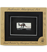 Aboriginal Framed Bone Art Oblong