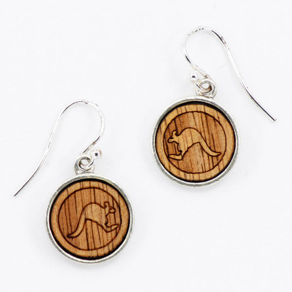Kangaroo Drop Earrings - Gifts At The Quay