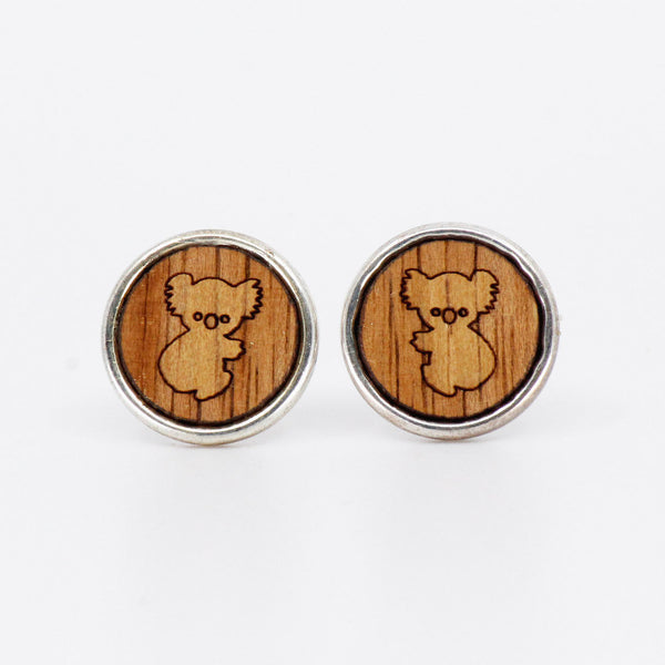 Koala Charm Studs - Gifts At The Quay