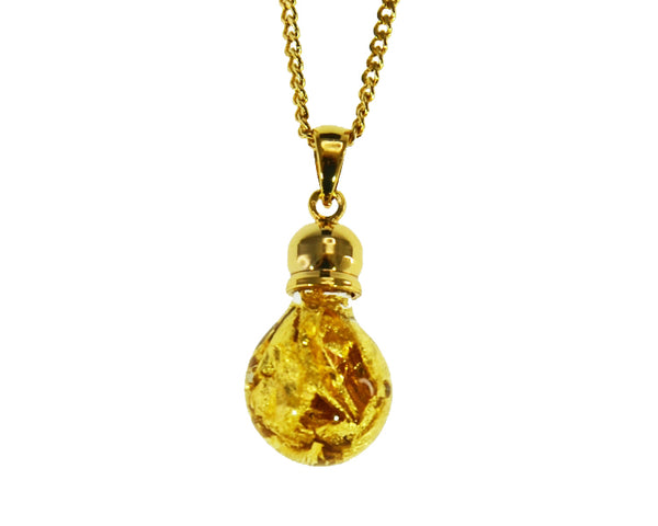 GP200020 Gold Glass Pendant - Gifts At The Quay