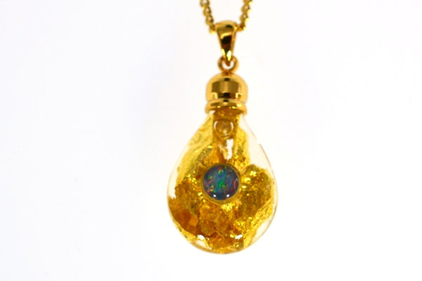 GPOP2022 Gold Glass Pendant - Gifts At The Quay