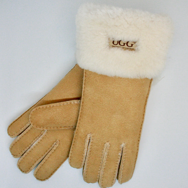 Womens UGG Wool Fold Gloves
