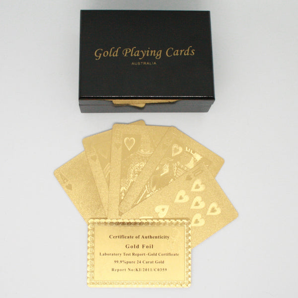 Real Gold Deck Of Cards