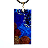 Aboriginal Art Pendant - Land And Water