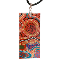 Aboriginal Art Pendant - Gather Together