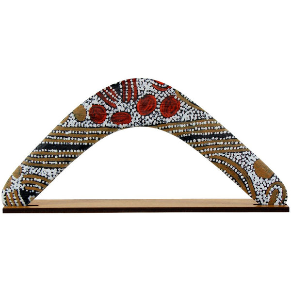 Western Desert Collection Returning Boomerang - Glenys Gilson Napalttjarri
