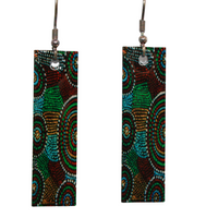 Aboriginal Art Earring - My Country