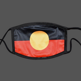 Aboriginal Flag Face Mask