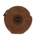 Suede Colour Coin Bag Round