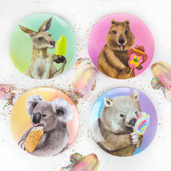 Plate Set Ice Cream Critters