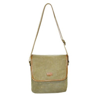 FIB WAXED CANVAS FLAP OVER SLING BAG