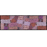 Betty Long Silk Scarf - Lilac/Rust