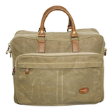 FIB WAXED CANVAS MULTI COMPARTMENT LAPTOP BAG