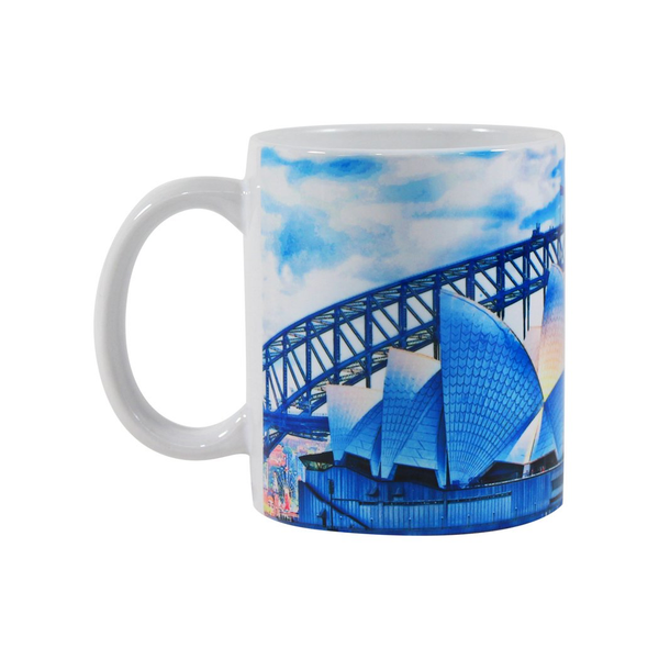 Mudio Artistry Range Mug - Harbour Bridge Blue