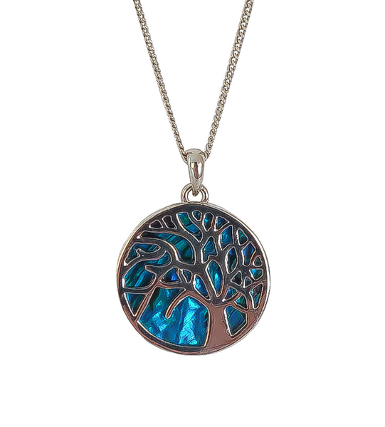 Paua Shell Tree Necklace