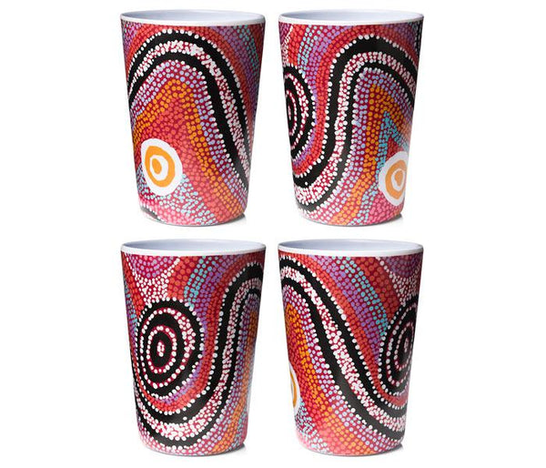 OTTO SIMS MELAMINE TUMBLERS (CUPS)(X4) - Gifts At The Quay