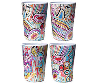 JUDY WATSON MELAMINE TUMBLERS (CUPS) (X4) - Gifts At The Quay
