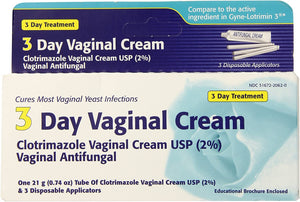 3 Day Vaginal Cream - Clotrimazole Vaginal Cream USP (2%)