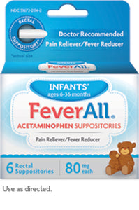 FeverAll® Infants' Strength (80 mg of acetaminophen)