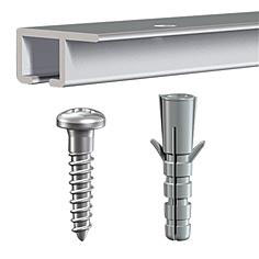 TOP Picture Hanging White Rail for Ceilings (15kg) inc fittings