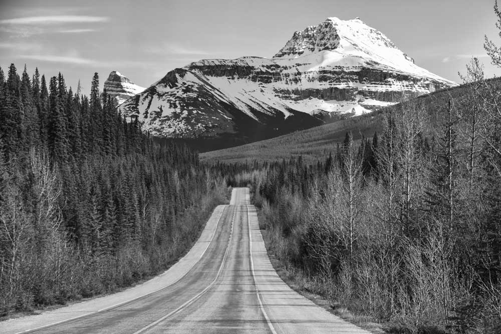 World Heritage (Black and White) - Canadian Rocky Mountains, Banff National Park, Canada (#AA_WHBW_10)