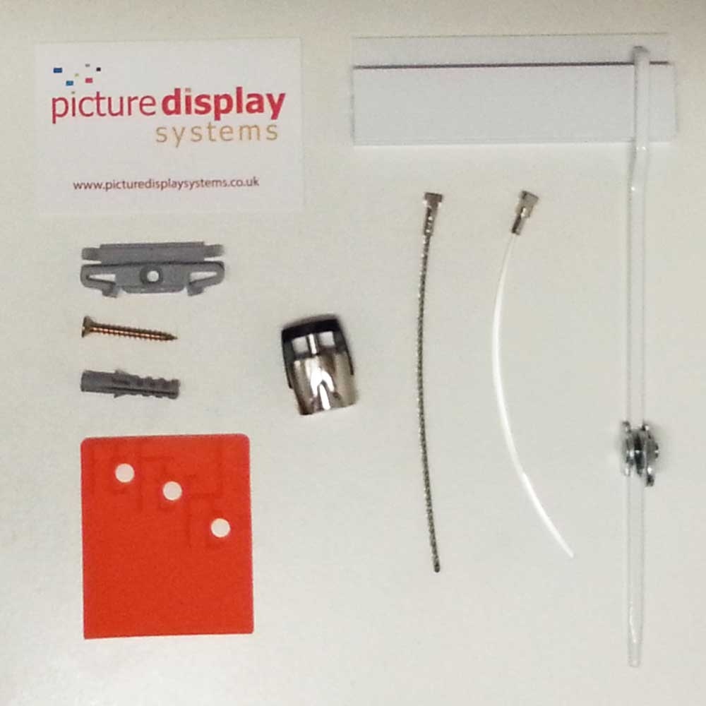 GALLERY Picture Hanging Rail Sample Pack (White)