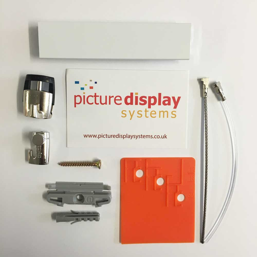 PRO Picture Hanging Rail Sample Pack (White)