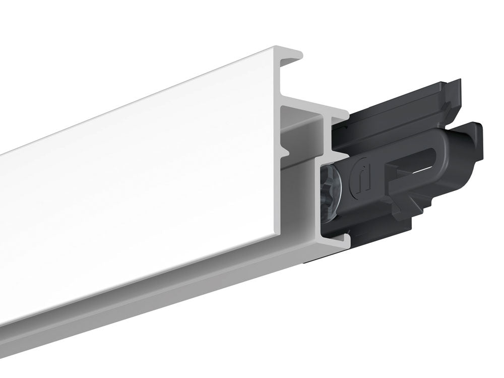 PRO Picture Hanging Rail (White, 200cm) inc fittings