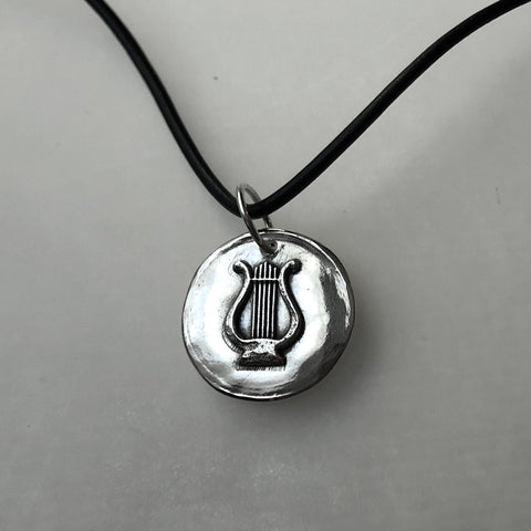 "Limited Edition Silver ""Orpheus and the Mermaids"" Lute Necklace"